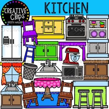 Kitchen Clipart {Creative Clips Clipart}