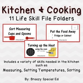 Special Education Kitchen / Cooking Life Skill File Folders