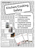Kitchen/ Cooking Safety Worksheets (tools and appliances)