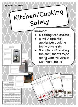 Kitchen Safety Worksheets Teachers Pay Teachers