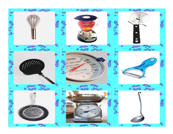 Kitchen Cookware & Utensil Cards