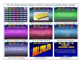 Kitchen Cookware-Utensils Jeopardy PowerPoint Game Slideshow