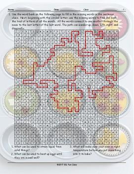 Kitchen Cookware-Utensils Word Maze