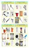 Kitchen Cookware and Utensils Legal Size Photo Tic-Tac-Toe
