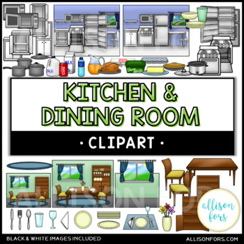 Kitchen & Dining Room Clip Art Bundle