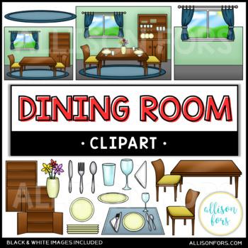 Kitchen & Dining Room Clip Art Bundle