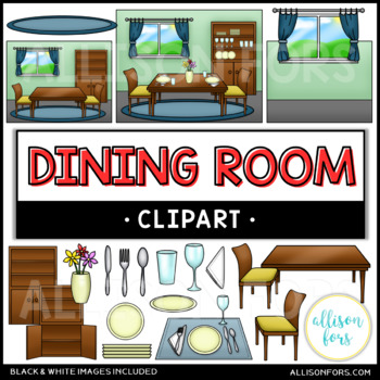 Kitchen and Dining Room Clip Art Bundle