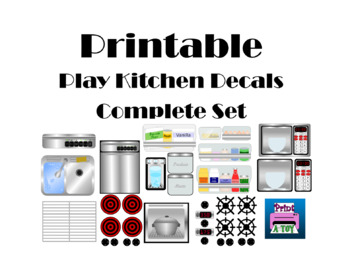 Kitchen Dramatic Play Printables