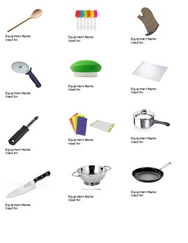 Kitchen Equipment Tools Names And Usage