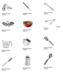 Kitchen Equipmenttools Names And Usage