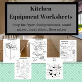 Kitchen Equipment Worksheets Bundle