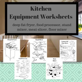 Kitchen Equipment Worksheets Bundle