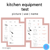 Kitchen Equipment Test (Family and Consumer Science, FACS, FCS)