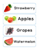 Kitchen-Food Labels for Dramatic Play