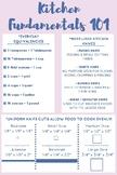 Kitchen Fundamentals Handout / Printable