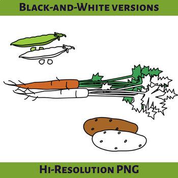 Kitchen Garden Vegetables Clip Art