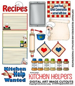Kitchen Helpers Clipart