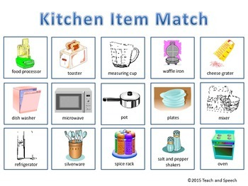 Kitchen Item Matching