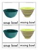 Kitchen Items - Montessori 3 part cards - English and Spanish
