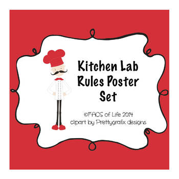 Kitchen Lab Rules Poster