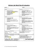 Kitchen Lab-Work Plan & Evaluation