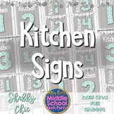 Kitchen Labels- FACS, Home Ec *Shabby Chic*