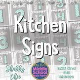 Kitchen Labels- FACS, Home Ec *Shabby Chic*