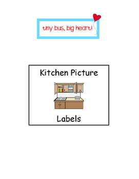 Kitchen Labels for Classroom Kitchen and Measurement Data Sheets