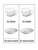 Kitchen Matching Cards French Montessori
