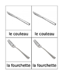 Kitchen Matching Cards French Montessori