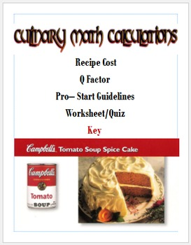 Culinary Math Calculations
