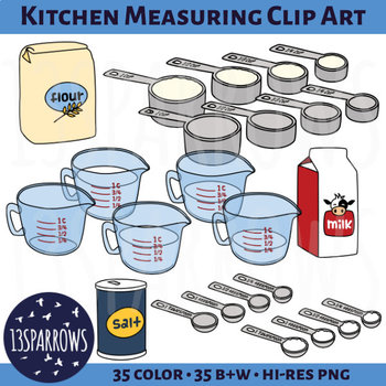 Kitchen Measuring Clip Art