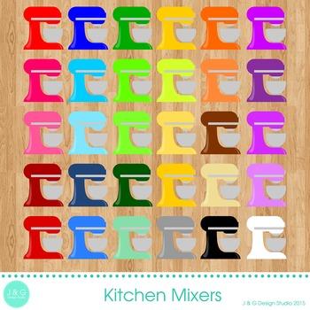 Kitchen Mixers Digital Clipart
