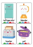 Kitchen Objects Vocabulary Cards