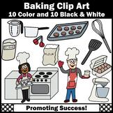 Baking Clip Art, Chef, Stove, Cookie Sheet, Eggs, Mixeer, Utensils, SPS