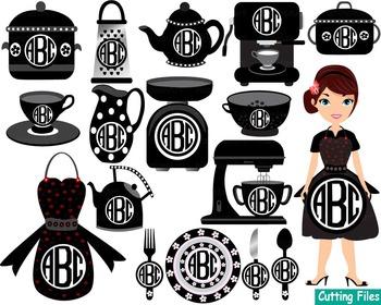 Kitchen Restaurant Utensils food tools Clip art SVG Coffe