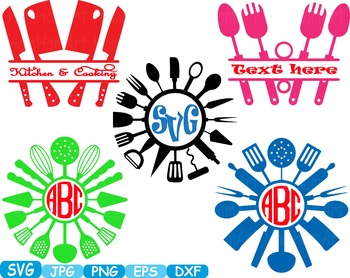 Kitchen SVG file Cricut & Cameo Utensils Cooking food stic