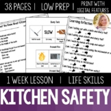 Kitchen Safety Lesson Life Skills Special Education Distance Learning