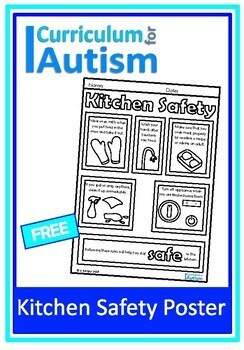 Kitchen Safety Life Skills Poster Autism Special Education