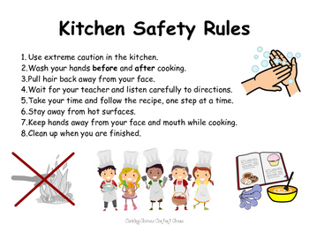 kitchen safety rules by the magic of first grade tpt rh teacherspayteachers com basic rules of kitchen safety 5 rules of kitchen safety