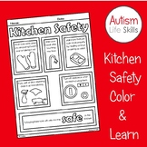 Kitchen Safety Rules Color and Learn Activity SPED Autism