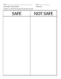 Kitchen Safety - Safe and Not Safe