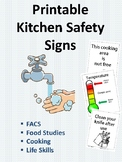 Kitchen Safety Signs for FACS and Life Skills