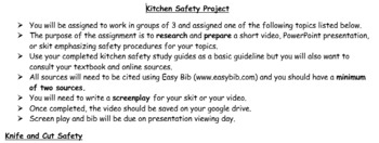 Kitchen Safety Video Project