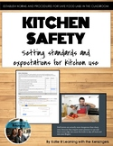 Kitchen Safety powerpoint presentation, assignment, & bulletin organization