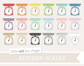 Kitchen Scale Clipart; Vintage, Baking, Cooking