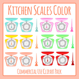 Kitchen Scales in Color Clip Art for Commercial Use (Weight / Mass)