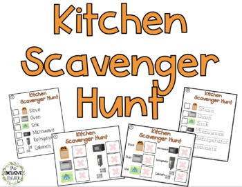 Kitchen Scavenger Hunt Activity Pack - Beginner by Teaching Special ...