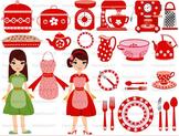 Kitchen School Restaurant Clip Art  TOOLS Food pots and pa