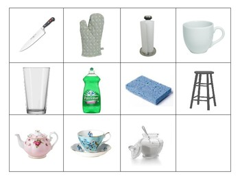 Kitchen Series Picture Cards for Foreign Language Study (Blank)